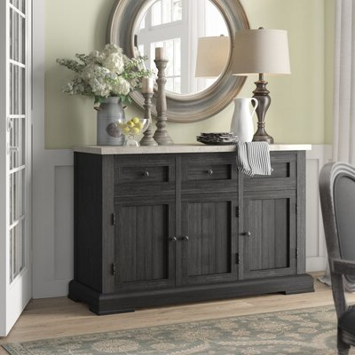 """Birch Lane Throughout Favorite Albright 58"""" Wide 3 Drawer Sideboards (View 5 of 30)"""