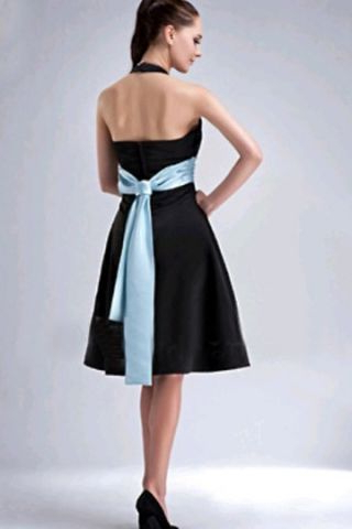 Black Dress With Blue Sash (View 27 of 30)