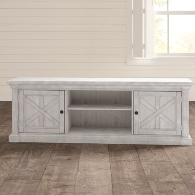 Blaire Solid Wood Tv Stands For Tvs Up To 75 Intended For Most Up To Date Farmhouse & Rustic Tv Stands (View 17 of 30)