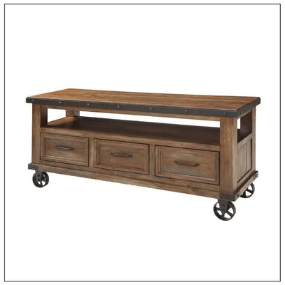 Blaire Solid Wood Tv Stands For Tvs Up To 75 Pertaining To Favorite Tv Stands With Wheels You'll Love In  (View 23 of 30)
