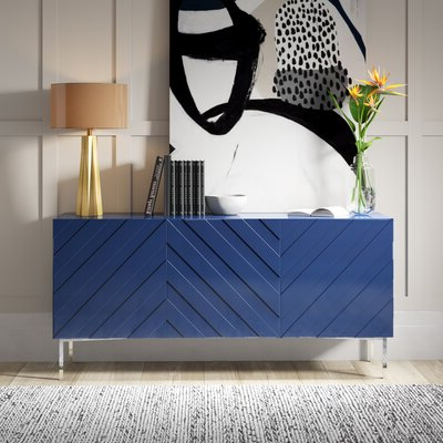 """Blue & Green Sideboards & Buffets You'll Love In 2020 Intended For 2020 64"""" Wide Rubberwood Sideboards (View 28 of 30)"""