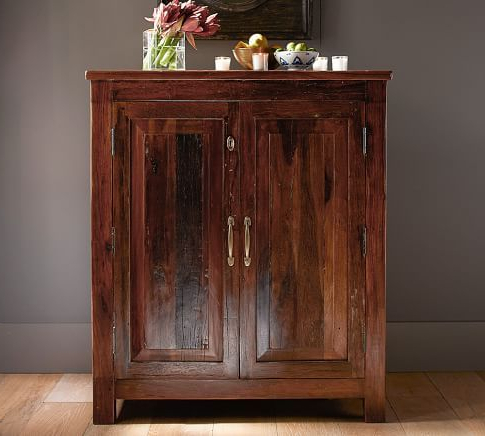 Bowry Reclaimed Wood Media Console Bar Cabinet (View 9 of 30)