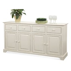 """Braxton Culler Hues 70"""" Wide 4 Drawer Rubber Wood With Well Known 64"""" Wide Rubberwood Sideboards (View 5 of 30)"""