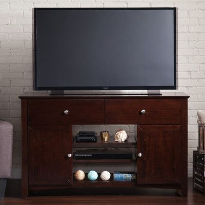 """Breakwater Bay Simas Solid Wood Tv Stand For Tvs Up To 55 For Popular Quillen Tv Stands For Tvs Up To 43"""" (View 11 of 30)"""