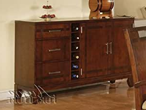 """Bruin 56"""" Wide 2 Drawer Sideboards Regarding Well Known Amazon – Acme Donovan Server, Walnut Finish – Buffets (View 25 of 30)"""