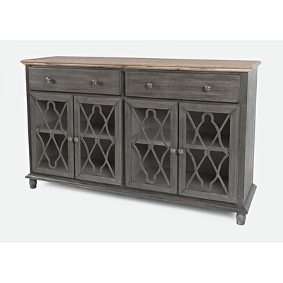 """Bruin 56"""" Wide 2 Drawer Sideboards Within Popular Black & Grey Sideboards & Buffets You'll Love In  (View 10 of 30)"""