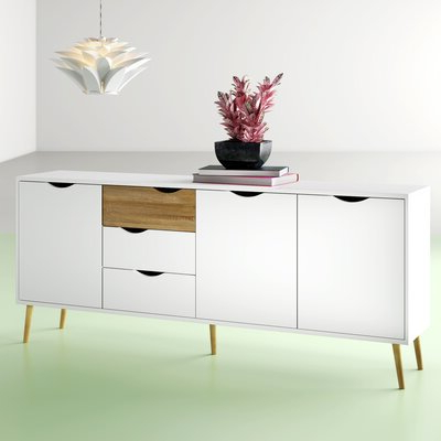 """Buffet Table White Sideboards & Buffets You'll Love In Pertaining To Newest Milena 52"""" Wide 2 Drawer Sideboards (View 10 of 30)"""