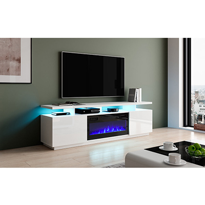 """Bukard Tv Stand For Tvs Up To 78"""" Electric Fireplace Within Most Popular Ira Tv Stands For Tvs Up To 78"""" (View 14 of 30)"""