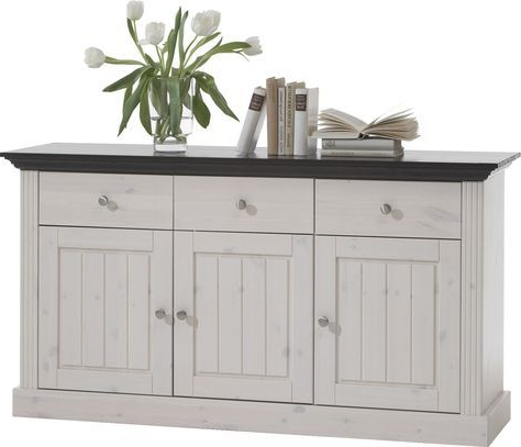 """Caila 60"""" Wide 3 Drawer Sideboards In Recent White Wash 3 Door 3 Drawer Sideboards In (View 10 of 30)"""