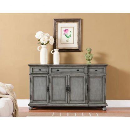 """Caila 60"""" Wide 3 Drawer Sideboards Inside Most Current Kino Burnished Grey – Three Drawer Four Door Credenza (View 2 of 30)"""