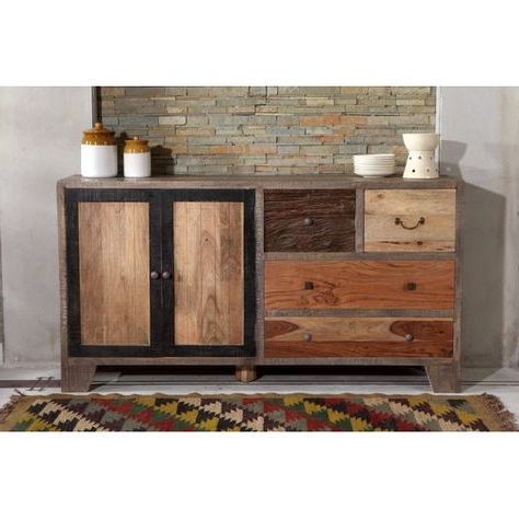 """Caila 60"""" Wide 3 Drawer Sideboards Regarding Fashionable Houston 2 Door 4 Drawer Sideboard The Woodtimes (View 16 of 30)"""
