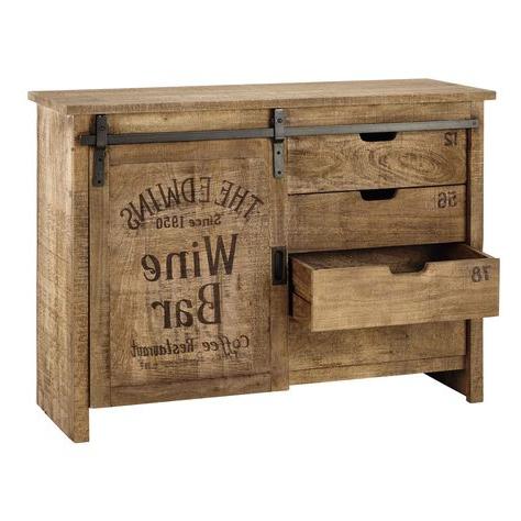 "Caja De Luz Para Intended For Current Zinaida 59"" Wide Mango Wood Buffet Tables (View 23 of 30)"