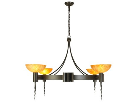 Capital Lighting Belmont Burnished Bronze Five Light 25.5 Pertaining To Well Known Strine  (View 23 of 30)