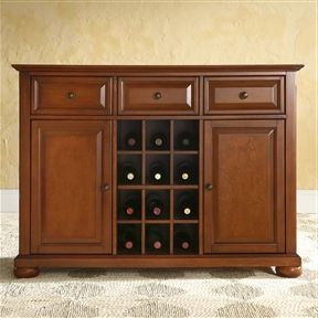 Cherry Wood Dining Room Storage Buffet Cabinet Sideboard With 2020 Orner Traditional Wood Sideboards (View 16 of 30)