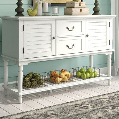 """Chouchanik 46 Wide 4 Drawer Sideboards In Famous Kelly Clarkson Home Gemma 56"""" Wide 2 Drawer Sideboard (View 16 of 30)"""