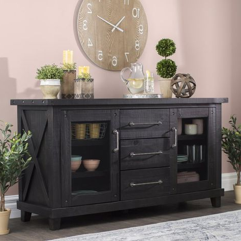 """Chouchanik 46 Wide 4 Drawer Sideboards Within Most Up To Date Langsa 65"""" Wide 3 Drawer Sideboard (View 14 of 30)"""