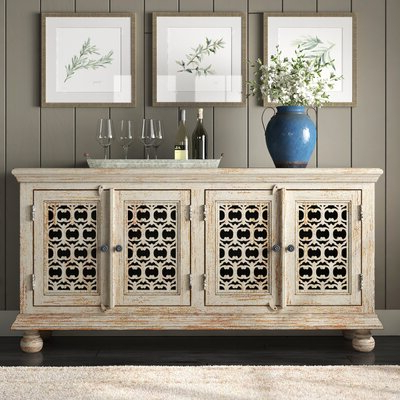 """Claire 70"""" Wide Acacia Wood Sideboards For Popular Farmhouse & Rustic Sideboards & Buffets (View 28 of 30)"""