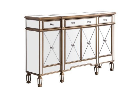 """Contempo 60"""" Wide 3 Drawer Sideboard (View 23 of 30)"""