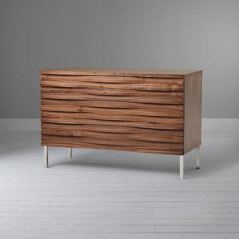 """Contentterence Conran Wave 3 Drawer Chest, Oak Inside Most Popular Hargrove 72"""" Wide 3 Drawer Mango Wood Sideboards (View 16 of 30)"""