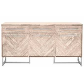 """Cora Rose 62.9"""" Wide 3 Drawer Acacia Wood Sideboard (with Inside Well Liked Cora Rose  (View 4 of 26)"""