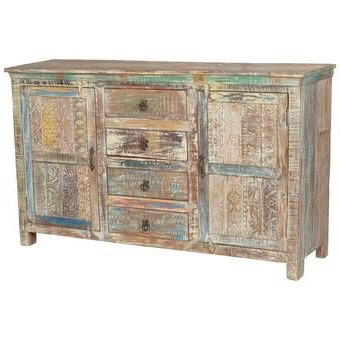 """Cora Rose 62.9"""" Wide 3 Drawer Acacia Wood Sideboards Regarding Well Liked Cora Rose  (View 5 of 26)"""