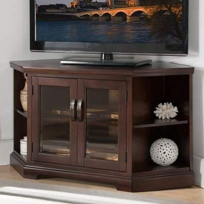Corner Tv Stand In Latest Kemble Tv Stands For Tvs Up To (View 15 of 30)