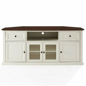 """Crosley Furniture Shelby 60"""" Corner Tv Stand In White And In Recent Herington Tv Stands For Tvs Up To 60"""" (View 2 of 30)"""