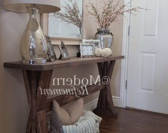 """Cuatom Farmhouse Entryway Table Will Measure 60 Wide 30 For Current Jakobe 66"""" Wide Sideboards (View 26 of 30)"""
