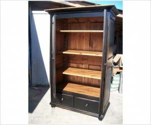 """Cupboard Wardrobe 2 Door With Well Known Kinston 74"""" Wide 4 Drawer Pine Wood Sideboards (View 30 of 30)"""