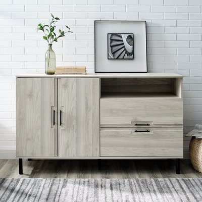 """Current Albright 58"""" Wide 3 Drawer Sideboards Intended For Sideboards & Buffet Tables (View 4 of 30)"""
