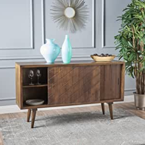 """Current Amazon – Christopher Knight Home Durango Finished Within Miruna 63"""" Wide Wood Sideboards (View 17 of 30)"""