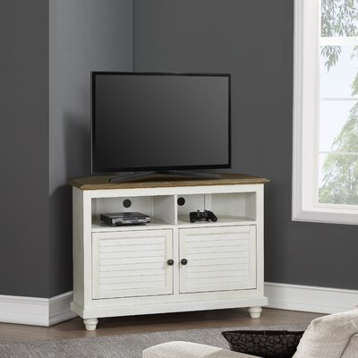 Current Blaire Solid Wood Tv Stands For Tvs Up To 75 Throughout Corner Tv Stands You'll Love In  (View 7 of 30)