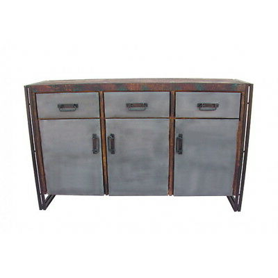 """Current Caila 60"""" Wide 3 Drawer Sideboards Within 60"""" W Juan Buffet 3 Drawer 3 Door Solid Reclaimed Wood (View 23 of 30)"""