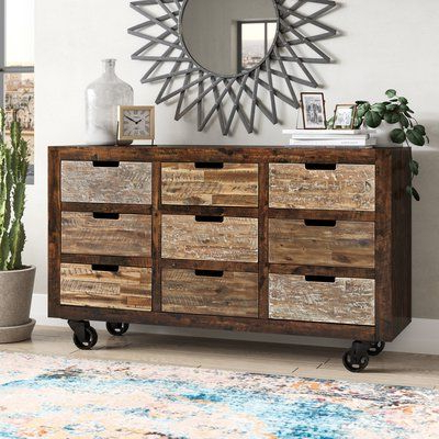 """Current Caila 60"""" Wide 3 Drawer Sideboards Within Trent Austin Design® Mittler 60"""" Wide 9 Drawer Sideboard (View 26 of 30)"""