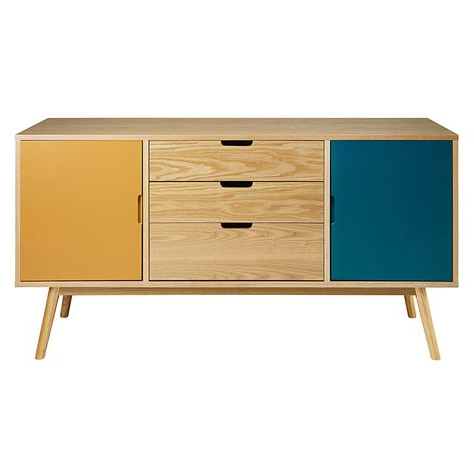 """Current Desirae 48"""" Wide 2 Drawer Sideboards Throughout Vintage Tricoloured 2 Door 3 Drawer Sideboard In  (View 16 of 30)"""