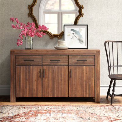 """Current Keiko 58"""" Wide Sideboards Within Brown Sideboards & Buffets (View 10 of 30)"""