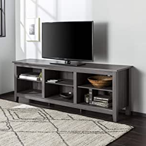 """Current Lorraine Tv Stands For Tvs Up To 70"""" In Amazon: Walker Edison Wren Classic 6 Cubby Tv Stand (View 7 of 30)"""