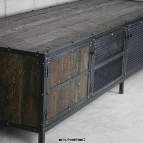 Current Media Console/credenza Vintage Industrial, Mid Century Intended For Fitzhugh Credenzas (View 17 of 21)