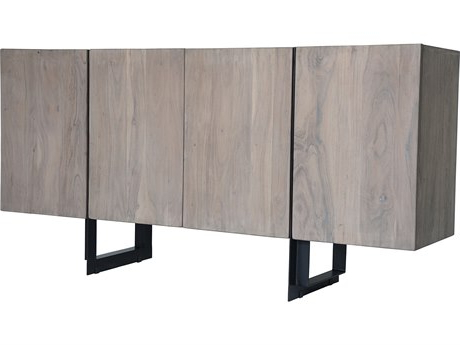 """Current Moe's Home Collection Tiburon Small 64'' X 16'' Solid For Beckenham 73"""" Wide Mango Wood Buffet Tables (View 2 of 30)"""