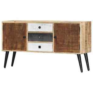 """Current Orianne 55"""" Wide 2 Drawer Sideboards Inside Solid Mango Wood Sideboard 3 Drawers And 2 Doors Highboard (View 10 of 30)"""