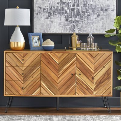 """Current Rustic & Farmhouse Sideboards, Buffets & Buffet Tables You Throughout Slattery 52"""" Wide 2 Drawer Buffet Tables (View 30 of 30)"""