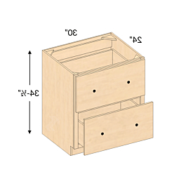"""Daisi 50"""" Wide 2 Drawer Sideboards With Regard To Famous Db30 2 – Baldwin Maple Natural Drawer Base Cabinet ( (View 11 of 30)"""