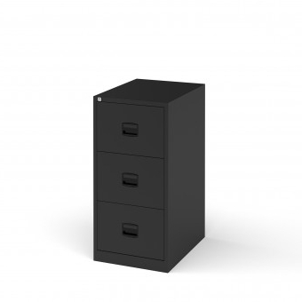 Dams Steel 3 Drawer Contract Filing Cabinet 1016mm High Pertaining To Latest 3 Drawer And 2 Door Cabinet With Metal Legs (View 4 of 30)