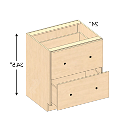 """Db30 2 – Lombard Maple Natural Drawer Base Cabinet (2 Throughout Most Recently Released Daisi 50"""" Wide 2 Drawer Sideboards (View 23 of 30)"""
