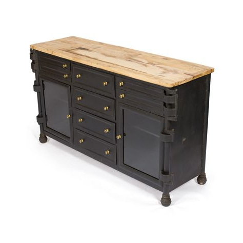 """Dental With Regard To Trendy Aneisa 70"""" Wide 6 Drawer Mango Wood Sideboards (View 12 of 30)"""