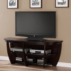 """Dimensions Furniture Archer 58 Inch Espresso Media Center In Best And Newest Josie Tv Stands For Tvs Up To 58"""" (View 6 of 30)"""