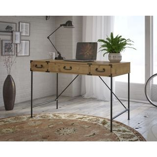 """Dostie 48"""" Wide Buffet Tables Intended For Most Popular Ironworks 48w Writing Desk From Kathy Ireland Homebush (View 21 of 30)"""