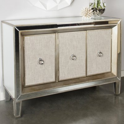 """Dostie 48"""" Wide Buffet Tables Pertaining To Well Known Glam Cabinets & Chests You'll Love In (View 4 of 30)"""