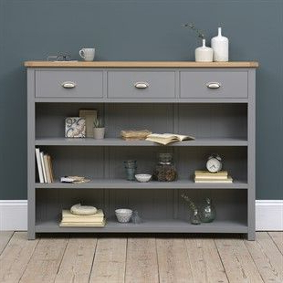 """Ellison 76"""" Wide Sideboards In 2020 Sussex Grey Low And Wide Bookcase – The Cotswold Company (View 18 of 30)"""