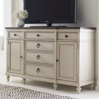 """Elllise 62"""" Wide Sideboards Inside Best And Newest Lark Manor Ornithogale 64"""" Wide 6 Drawer Sideboard (View 6 of 30)"""